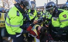 [오마이포토] 청와대 앞 경찰과 충돌한 민주노총