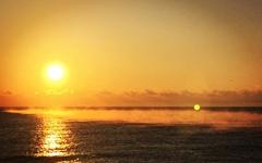 [모이] 바다에서 피어나는 물안개