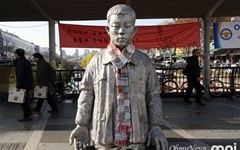 [모이] 서울 청계천에서 만난 전태일 동상