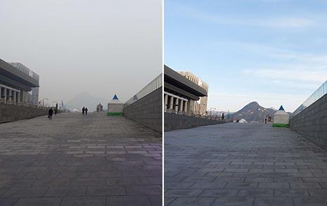 [오마이포토] 미세먼지 가고, '파란 하늘' 돌아왔다