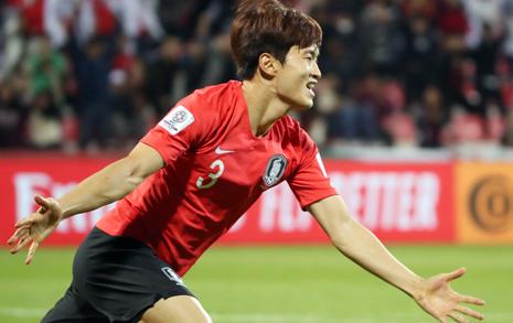 '김진수 결승골' 벤투호, 힘겹게 바레인 잡고 8강행