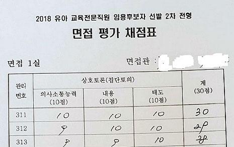 서울교육청 장학사 채용비리 의혹, '대필' 채점표를 공개합니다