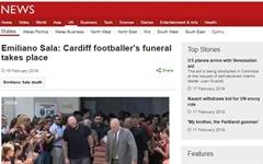 축구선수 에밀리아노 살라 장례식, 선수·팬 수천 명 모여