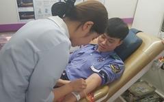 창원해양경찰서, '사랑의 헌혈' 동참