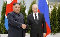 """푸틴 """"북미 대화 환영""""... 김정은 """"세계의 관심이 한반도에"""""""