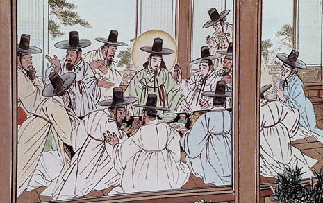 갓 쓴 선비들의 '최후의 만찬', 이 그림의 배경