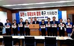 """울산시의원 13명 """"일본 몰염치, 초당적으로 대응할 것"""""""