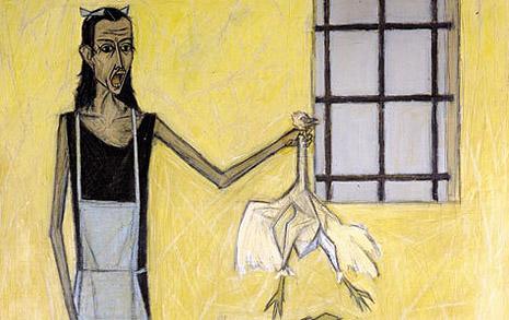 피카소가 본 뷔페의 그림, 하고 싶은 말이 많았습니다