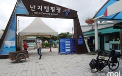 [사진] 강바람 솔솔 불어오는 강변 야영장