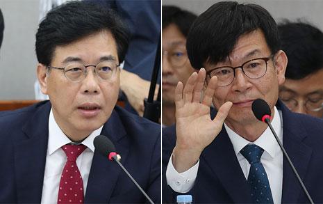 """송언석, 김상조에 '속사포' 질문한 뒤... """"답변은 서면으로"""""""