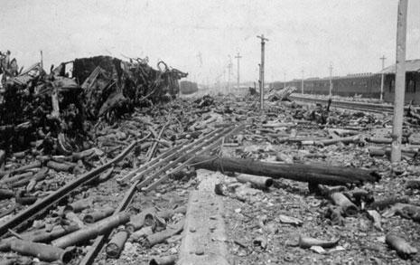 잿더미가 된 평택역... 69년 전 끔찍한 현장