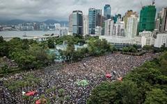 [드론 촬영] 홍콩시민들로 가득 찬 빅토리아 공원