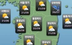 [주말날씨] 전국 구름 많음... 강원영동·제주 '비'