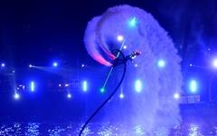 [사진] 거창 '형형색색의 야간 플라이보드쇼'