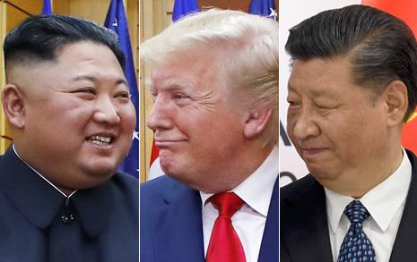 """김정은-시진핑, 그 사이 트럼프... """"미국, 북중관계 핵 될 것"""""""