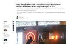 캐리 람, 시위대 '폭도' 칭하며 맹비난... 시민들 '마스크' 쓰고 거리로