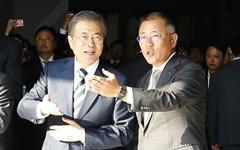 이재용 이어 정의선 만난 문 대통령, 대기업 '기 살리기' 가속