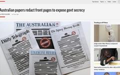 호주 일간지, 1면 '검은줄' 발행... 무슨 일 있었느냐면