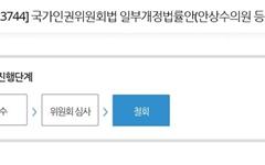 """인권위법 개정안, 왜 갑자기 철회됐나? 안상수 """"뺄 사람 빼고..."""""""