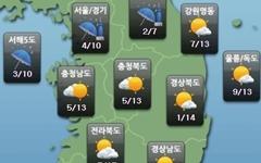 [내일날씨] 중북부 새벽 한때 '비'... 미세먼지 '나쁨' 주의