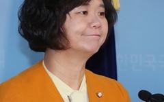 [오마이포토] 민경욱 지역구에 도전장 낸 이정미...민 의원 반응은?