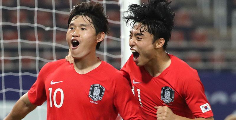 한국 남자축구, 올림픽 본선 티켓 쥐고 결승 올라