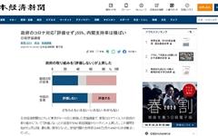 """일본 국민, 아베 내각 코로나19 대응 불만족... """"지도력 없다"""""""