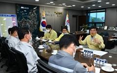 변광용 거제시장, 대우-삼성 조선소장 만나 '고용 안정' 등 논의