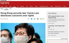 """캐리 람, '홍콩 보안법' 적극 지지... """"걱정할 필요 없어"""""""