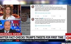"""'팩트첵크' 경고 받은 트럼프... 트위터에 """"폐쇄할 것"""" 으름장"""