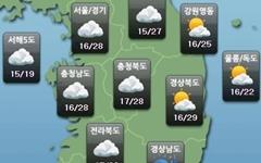 [주말날씨] 주말 전국 대체로 맑음... 초여름 더위 계속