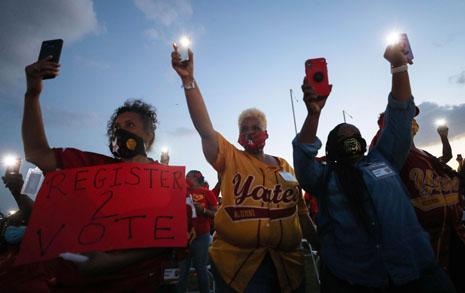흑인차별 반대 시위에 다녀왔습니다, 누군가 시비를 겁니다만