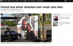 마스크 안 쓴 승객 거부했다가 폭행당한 프랑스 버스기사 사망