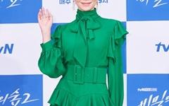 [오마이포토] '비밀의 숲2' 윤세아, 싱그러운 초록패션