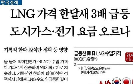 한국경제·조선비즈, 외신 왜곡해 '탈석탄 정책' 비판