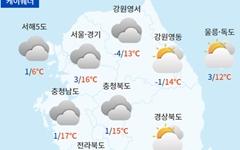[날씨] 대체로 맑고 포근... 큰 일교차 주의
