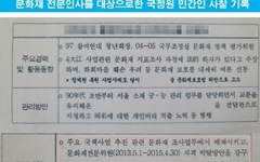 """문화재위원 불법사찰... """"대외 이미지 실추 유도"""""""