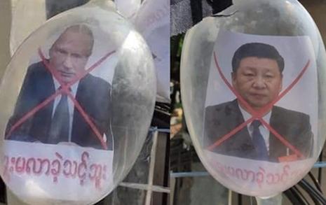 시진핑·푸틴을 콘돔에 가둬버린 미얀마 사람들
