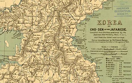 1895년 일본제 지도에 담긴 조선의 기구한 운명