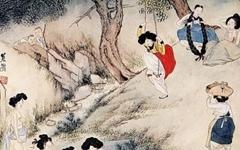 김홍도의 그림 '씨름'에는 부채가 몇 개일까?
