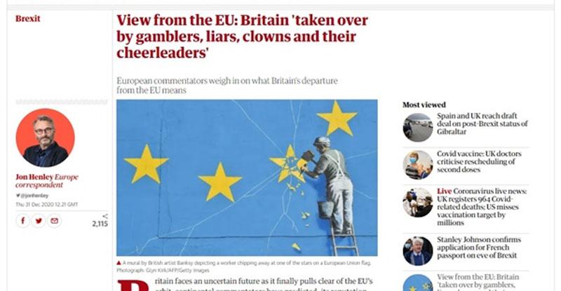 영국은 장밋빛 미래인 EU와 완전히 결별 했습니까?  심각한 타격?