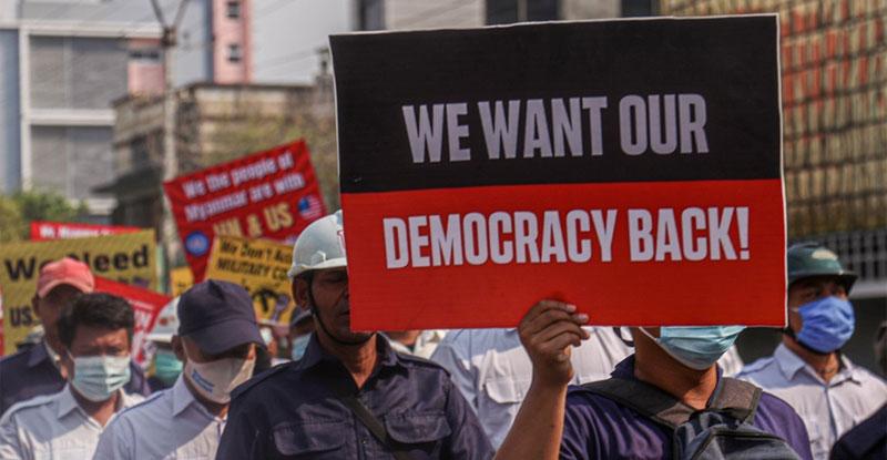"""미얀마 민주당 캠프 """"무장 반군과의 연대 논의에서 80 % 진전"""""""