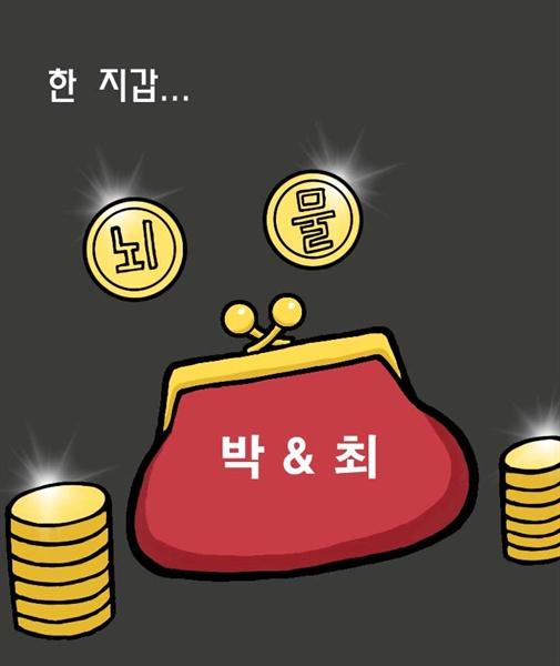 [김동준 만평] 한 지갑 '박&최'
