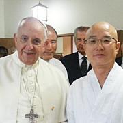 '막무가내' 스님 덕분에 교황님을 만났습니다