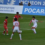 날개 공격 좋은 북 여자축구 홍콩 물리치고 8강 진출