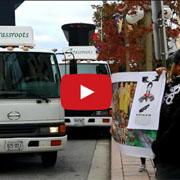 세월호 교민 시위 막은  '삼성 로고 트럭'의 정체는?