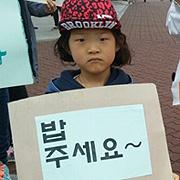 """무상급식 중단 첫날 아이들도 """"홍준표 쫌"""""""