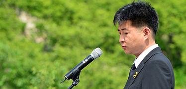 """노건호, 김무성 면전에서... """"대통령 죽음몰고 반성없어"""""""