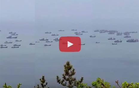 악천후가 기회...   연평도 뒤덮은 중국 어선들