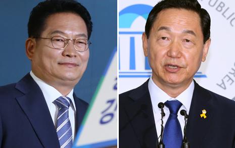 """김상곤 """"계파청산"""" 송영길 """"야권통합"""""""